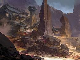 从戈壁到森林的概念,江湖险恶(含绘画过程解析)