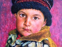 油画作品-Tajik 男孩系列