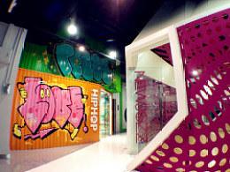 嘻哈帮街舞北京三里屯店室内设计