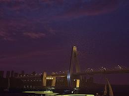 C4D海口世纪大桥