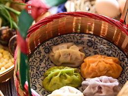 七笙美食摄影——彩虹饺子