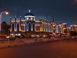 喀什的 夜景