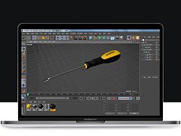 C4D建模练习 手动起子产品建模 螺丝刀渲染