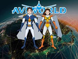 AVIWORLD航空大世界形象设计