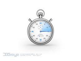 ICON练习--机械秒表--[临摹作品]