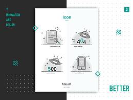 【首发】简约风格的缺省页排版设计/插画
