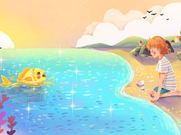 呼噜博士故事插画《海洋奇妙之旅》