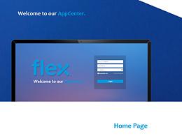 后台网站UI改版练习_flex