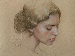 彩铅人物-《西西里的美丽传说》-Malena