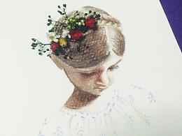 童•话 永生花与水彩的组合