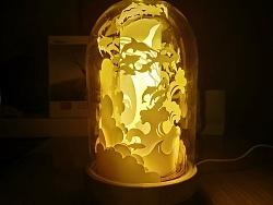 创意光影纸雕led小夜灯