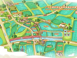 现代农业产业园.手绘地图定制设计