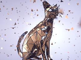 C4D  《动物世界》底面体风格原创作品