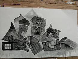建筑 插画