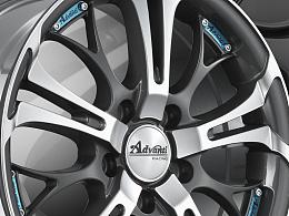 产品摄影汽车改装轮毂拍摄-雅迪轮圈