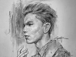 素描男肖像