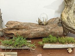 「熹時光木作」原生态坐灯
