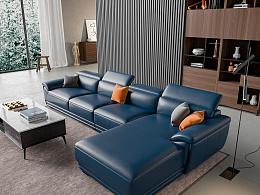 淘宝皮沙发效果图渲染