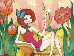 《爱绘生活--12位插画师教你玩转插画》作品欣赏--蜜桃麻子