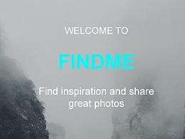 """findme""分享app UI界面设计"
