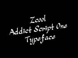 大猫|Addict Script One typeface