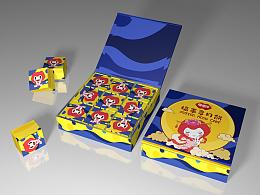 萌萌哒月饼礼盒包装