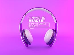 【C4D】耳机