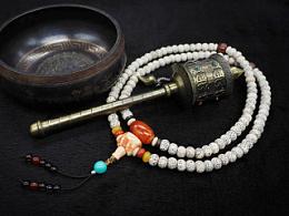 DIY玛瑙、血砗磲配珠星月菩提手串