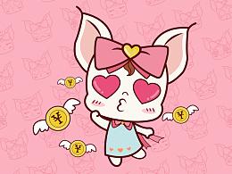 七水美妆吉祥物卡通形象设计