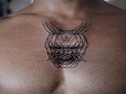 各种创意纹身多风格大合集.速写抽象的大臂后侧独特位