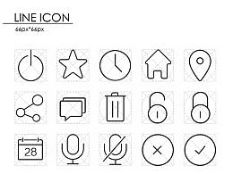 线条图标 app icon 临摹