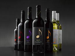 音符葡萄酒包装
