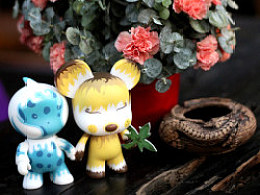 Toy2r&淘公仔,rdctoy涂装作品(熊小叶和淘水胖)