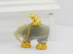 代波军艺术珠宝定制----古玉修复之牛背上的牧童
