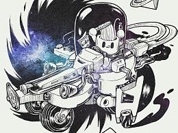 为了治疗拖延症跟朋友玩涂鸦对战【D BATTLE】