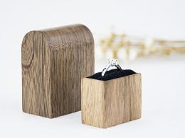 《恒家之造》 创意纯手工木质戒指盒 大纪念碑戒指盒