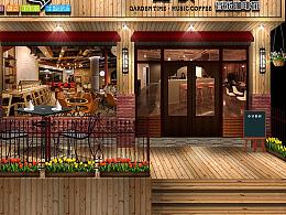 嘉顿时光咖啡馆-门面门头设计