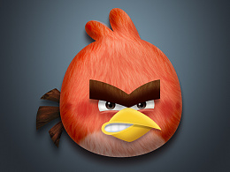 icon-图标练习-拟物风格-愤怒的小鸟