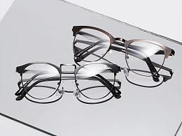 复古金属眼镜框玻璃柔光拍摄