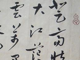 凇菱书章草-李太白《庐山谣》寄卢侍御虚舟诗句