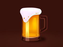 白酒&啤酒__写实图标绘制