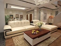 3D家具效果图展示--真皮沙发设计,家居