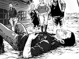 《推理世界》黑白插画 第七发