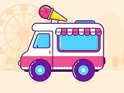 ice cream truck by 我很忙cathy