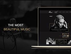 音乐类官网网页设计
