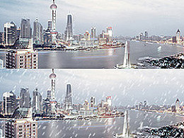 用PS给照片添加下雪效果