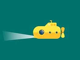 游动的潜水艇