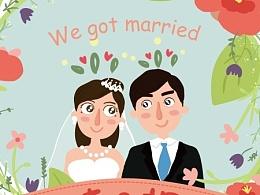 婚礼的小插画