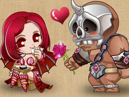 """游戏""""龙之力量""""同人漫画第一弹《七夕节快乐——爱你就要说粗来》雷克斯爱上吸血鬼"""