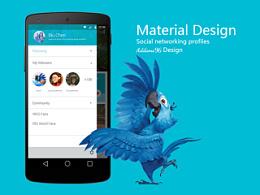Material - 风格社交APP个人页面设计